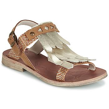 Topánky Dievčatá Sandále GBB ACARO Hnedá / Zlatá