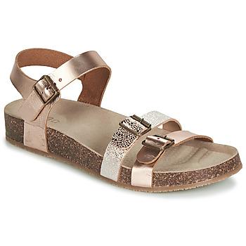 Topánky Dievčatá Sandále GBB BIGA Ružová / Zlatá / Zlatá