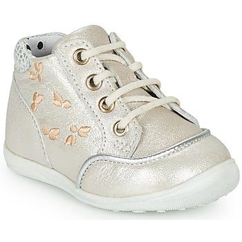Topánky Dievčatá Členkové tenisky Catimini BALI Béžová-strieborná