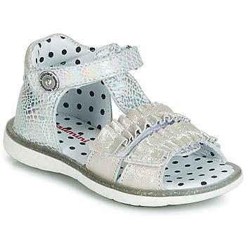 Topánky Dievčatá Sandále Catimini BIRA Strieborná / Béžová