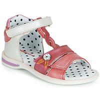 Topánky Dievčatá Sandále Catimini GOROKA Biela / Červená