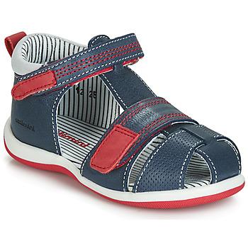Topánky Chlapci Sandále Catimini BALIMO Námornícka modrá / Červená