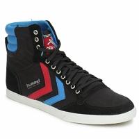 Topánky Členkové tenisky Hummel TEN STAR HIGH CANVAS Čierna / Modrá / Červená