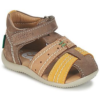 Topánky Chlapci Sandále Kickers BIGBAZAR Hnedá / Béžová / žltá