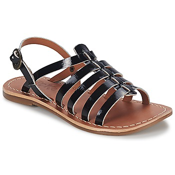 Topánky Dievčatá Sandále Kickers DIXMILLION Čierna / Lakovaná