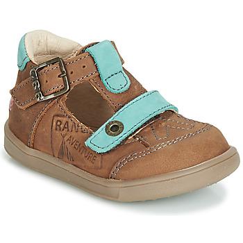 Topánky Chlapci Sandále GBB AREZO Hnedá / Modrá