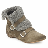 Topánky Ženy Polokozačky Bronx CREPOU Hnedá / šedá