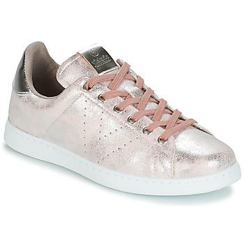 Topánky Ženy Nízke tenisky Victoria TENIS METALIZADO Ružová / Metalická