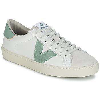 Topánky Muži Nízke tenisky Victoria BERLIN PIEL CONTRASTE Biela / Zelená
