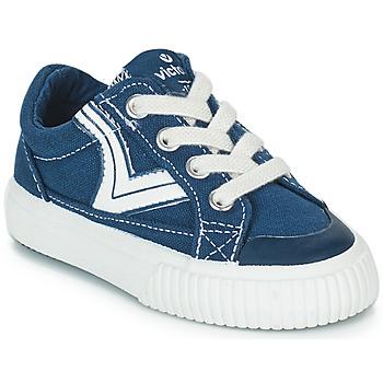 Topánky Deti Nízke tenisky Victoria TRIBU LONA RETRO Modrá