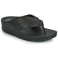 Topánky Ženy Žabky FitFlop TWISS CRYSTAL Čierna