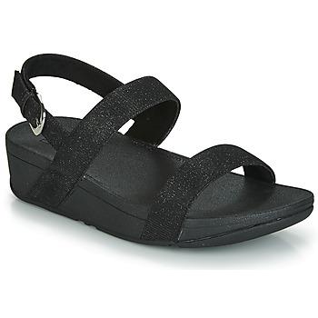 Topánky Ženy Šľapky FitFlop LOTTIE GLITZY BACKSTRAP SANDAL Čierna