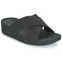 Topánky Ženy Šľapky FitFlop LULU SHIMMERLUX SLIDES Čierna