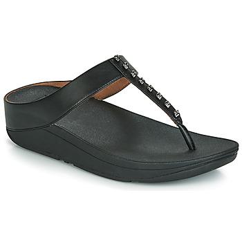 Topánky Ženy Žabky FitFlop FINO TREASURE Čierna