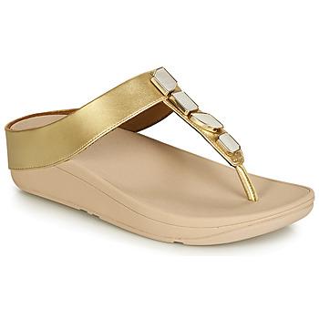 Topánky Ženy Žabky FitFlop FINO SHELLSTONE Zlatá