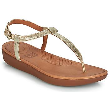 Topánky Ženy Žabky FitFlop TIA Zlatá
