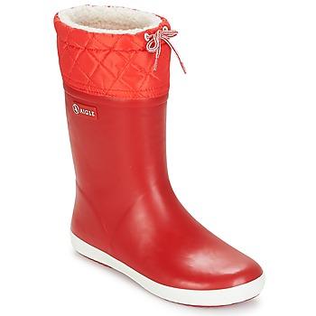 Topánky Deti Snehule  Aigle GIBOULEE Červená / Biela