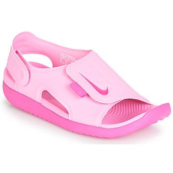 Topánky Dievčatá Sandále Nike SUNRAY ADJUST 5 Ružová