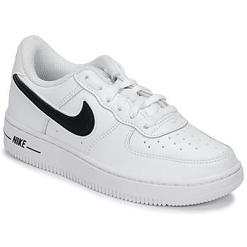 Topánky Deti Nízke tenisky Nike AIR FORCE 1-3 PS Biela / Čierna
